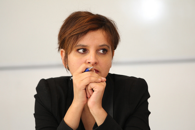 Najat Vallaud-Belkacem, ministre de l'Éducation nationale