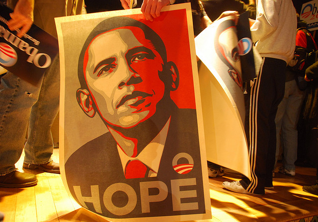 Obama Hope - Credits Steve Rhodes (CC BY-ND 2.0)