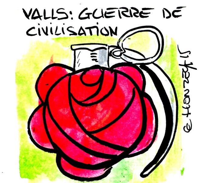 Valls guerre de civilisation rené le honzec