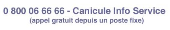 canicule info service - capture ecran