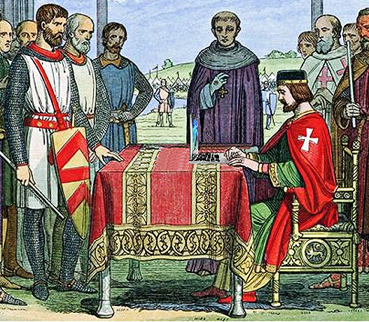 King John Posts the Magna Carta to His Facebook Wall, from an 1864 woodcut credits Mike Licht via Flickr ((CC BY 2.0)