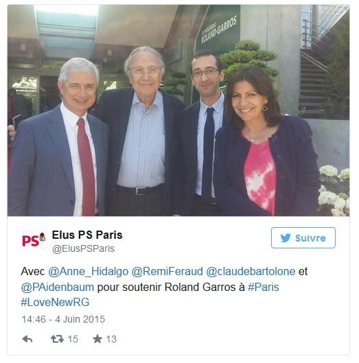 tweet élus PS Paris