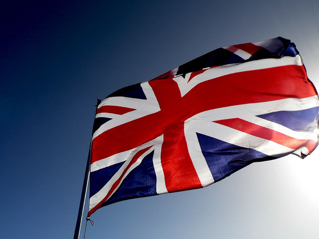 Flag - Great Britain credits Vaughan Leiberum  via Flickr ( (CC BY 2.0) )