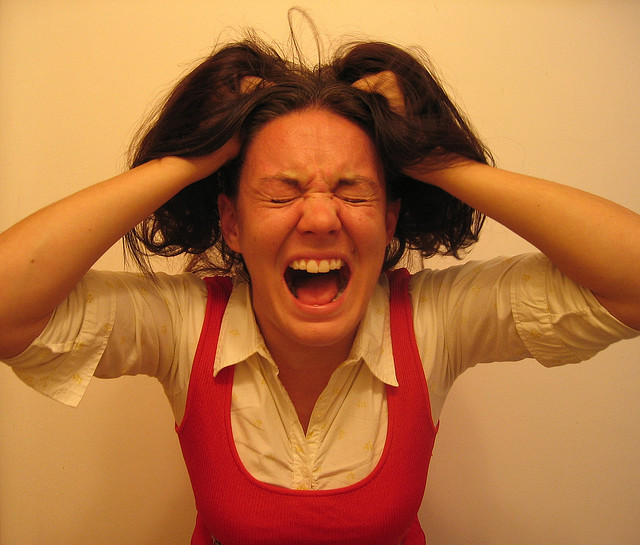 Self Portrait As A Stressed-Out Bride To Be credits Brittney Bush Bollay via Flickr ((CC BY-NC-ND 2.0))