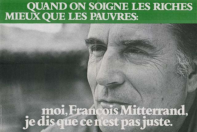Affiche de campagne de François Mitterrand en 1981 credits Parti socialiste via Flickr ((CC BY-NC-ND 2.0))