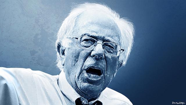 Bernie Sanders credits Donkey Hotey via Flickr ( (CC BY 2.0)