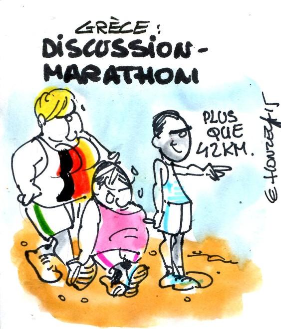 discussion marathon grèce rené le honzec