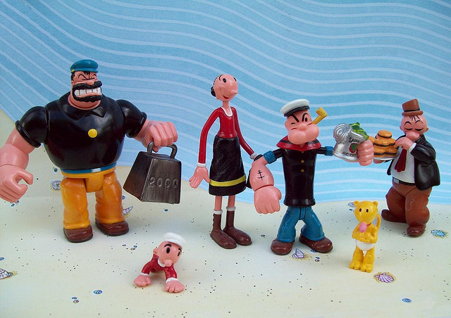 Popeye Mini Set credits Charles Rodstrom via Flickr ( (CC BY-NC-ND 2.0)