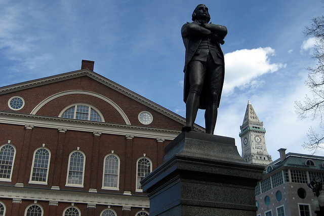 Boston - Freedom Trail - Faneuil Hall - Samuel Adams statue credits Wally Gobetz via Flickr ((CC BY-NC-ND 2.0)