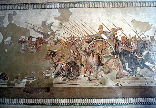 Alexander Defeats Persian King Darius Mosaic.-get directly down-(CC BY 2.0)