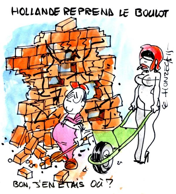 Hollande reprend le boulot rené le honzec