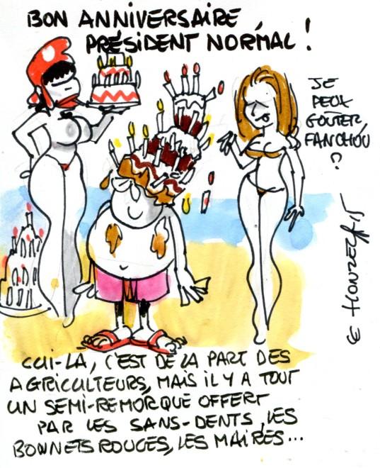 anniversaire Hollande rené le honzec