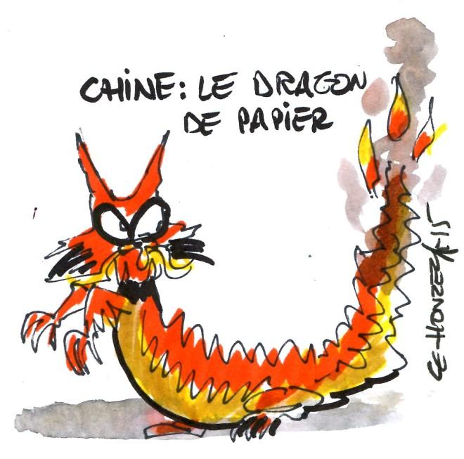 chine dragon de papier rené le honzec