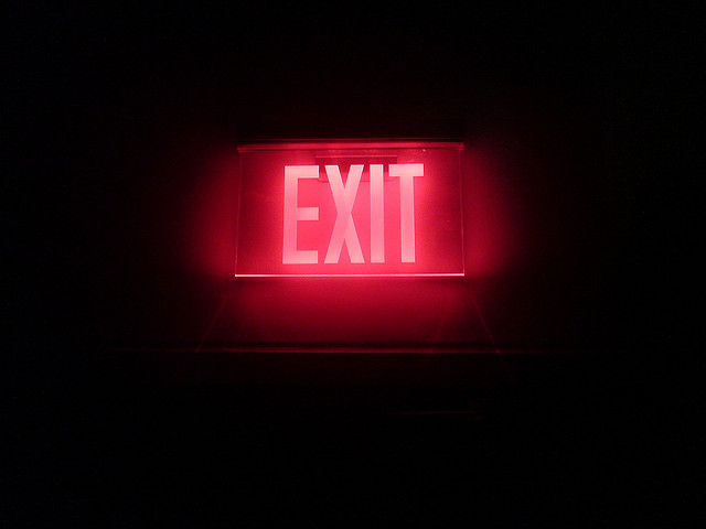 exit credits Paluska via Flickr ( (CC BY 2.0)