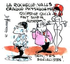 La Rochelle : Valls craque physiquement