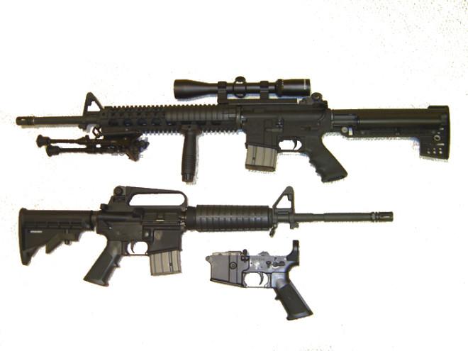 Clones civils de l'AR-15 (Image libre de droits, crédits Interchange88)