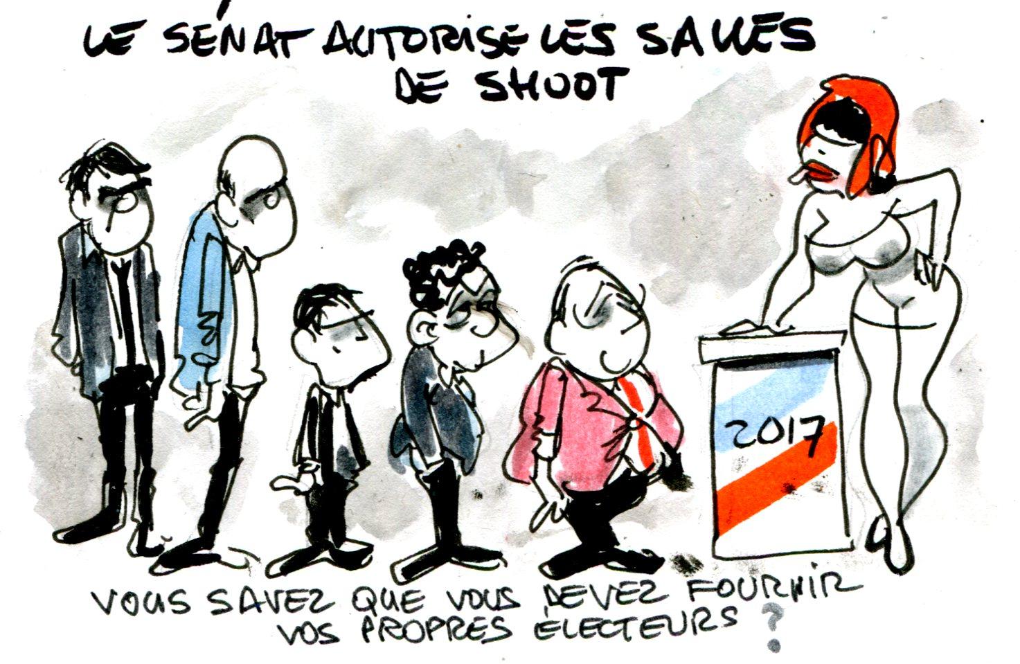 Contrepoints819 - Salle de shoot - René Le Honzec