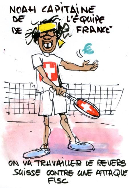 Noah capitaine de l'équipe de France René Le Honzec