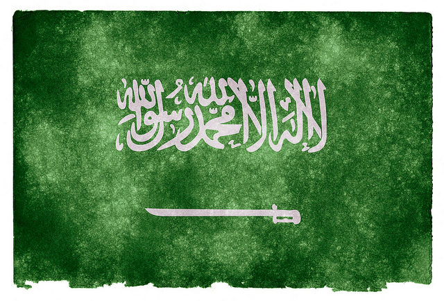 Saudi Arabia grunge flag credits Nicoals Raymond via Flickr ( (CC BY 2.0)