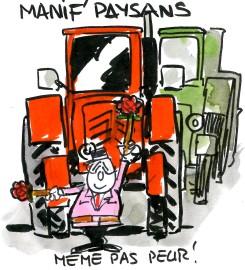 Hollande devant les manifs de paysans