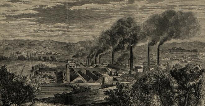 L'usine Petin et Gaudet à Saint-Chamond, L'Illustration 1862