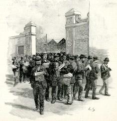 Sortie des ateliers de Godin & Cie, L'Illustration 1896