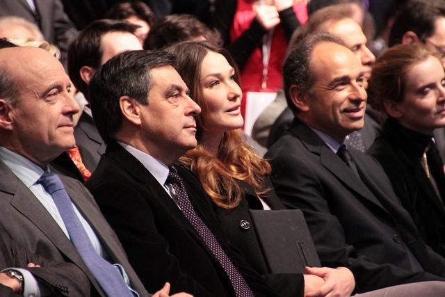Alain Juppé, François Fillon, Carla Bruni-Sarkozy et Jean-François Copé credits ump photos (CC BY-NC-ND 2.0)