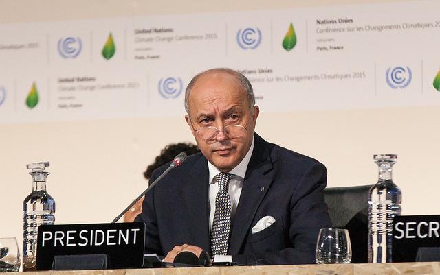 Laurent Fabius - COP21 - Ministrerio del Ambiente Peru (CC BY-NC-ND 2.0)