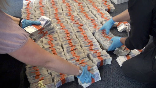West Midlands Police-Seized cash(CC BY-SA 2.0)