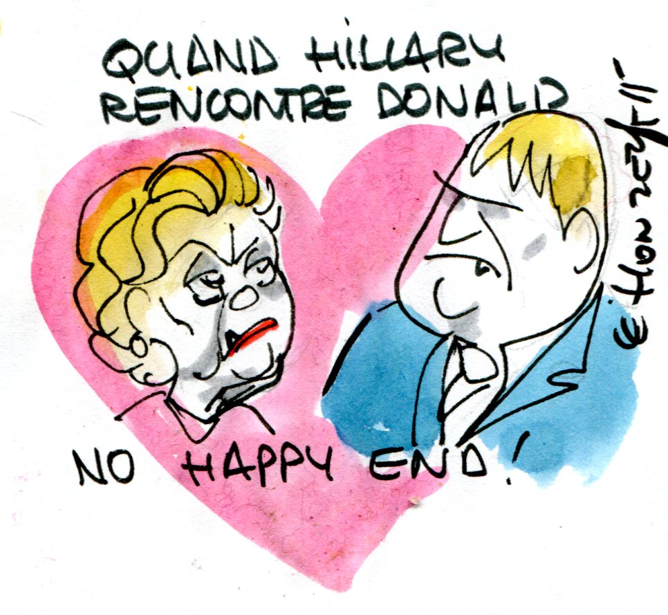 dessin politique125 - Hillary Clinton Donald Trump