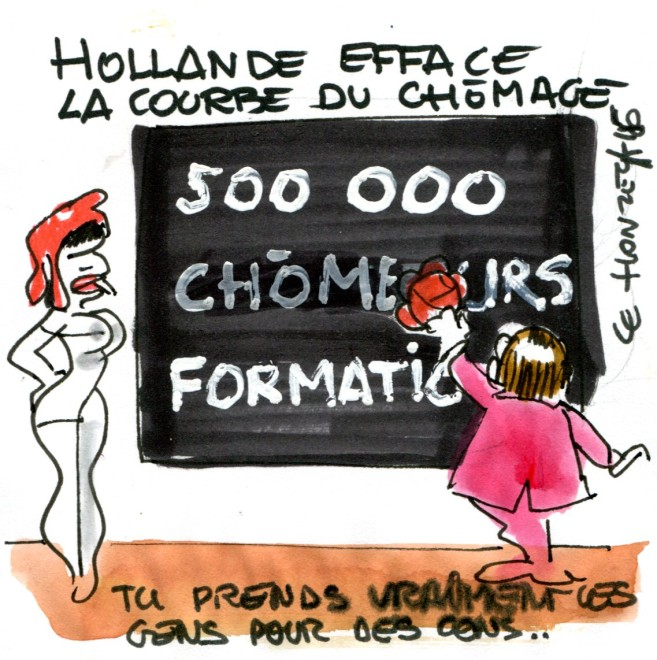 chomage hollande rené le honzec