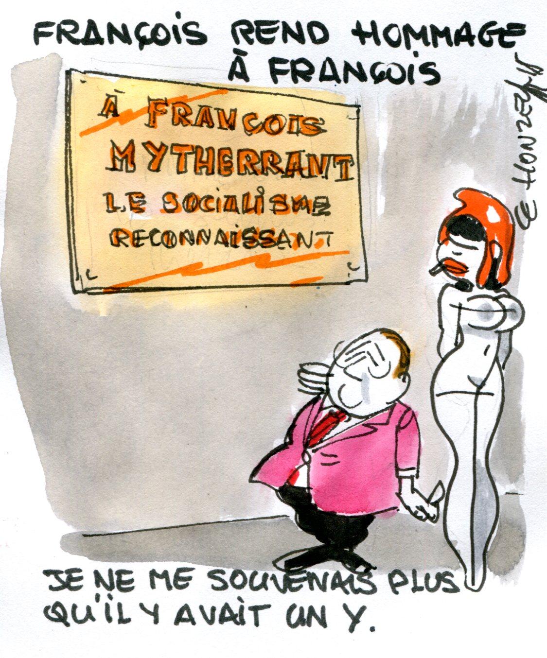 François Hollande rend hommage à François Mitterrand (Crédits : René Le Honzec/Contrepoints.org, licence CC-BY 2.0)