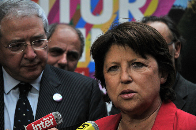 Martine Aubry au 104 crédits parti socialiste Martine Aubry au 104 crédits Parti Socialiste (CC BY-NC-ND 2.0)