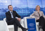 Emmanuel Macron et Federica Mogherini au World Economic Forum