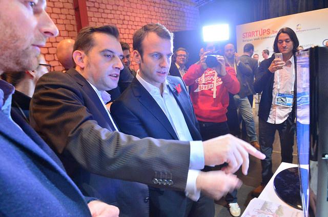 Emmanuel Macron, ministre de l'économie français (Crédits LeWeb, licence CC-BY 2.0), via Flickr.