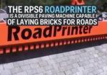 L'impression 3D d'une route par le RoadPrinter (vidéo)