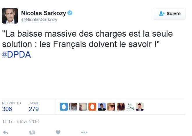 Tweet Nicolas Sarkozy 1