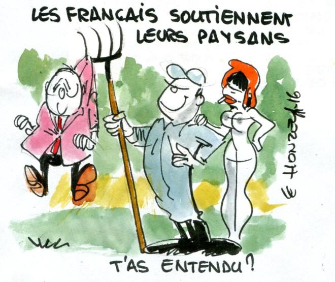 Les Français soutiennent les agriculteurs rené le honzec