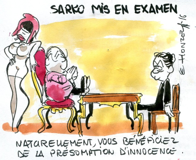 Sarko mis en examen René Le Honzec