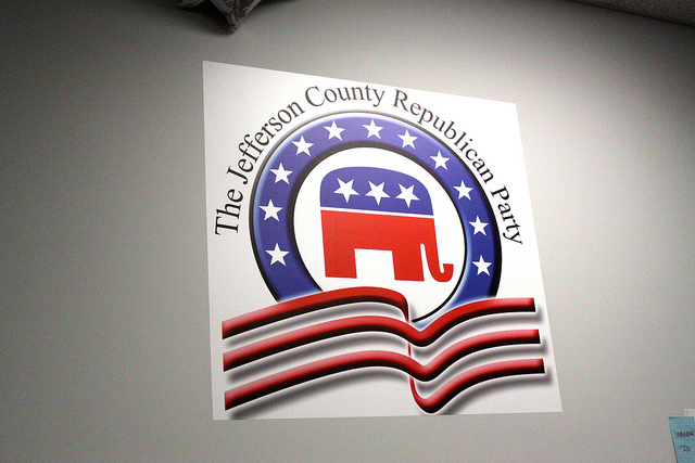 The jeffersonian County republican party crédits Gage Skidmore (CC BY-SA 2.0)
