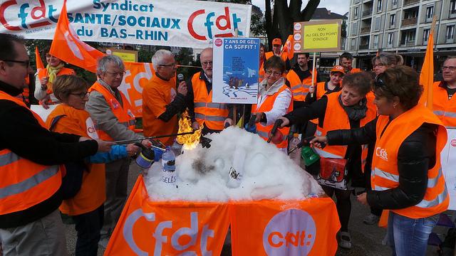 Manifestation CFDT contre l'austérité dans la fonction publique à Strasbourg
