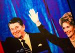 l'ancien président américain Ronald Reagan avec sa femme Nancy Reagan