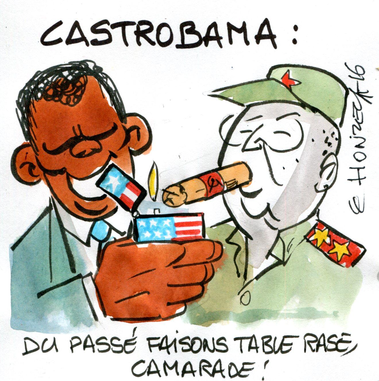 Obama Castro René le Honzec