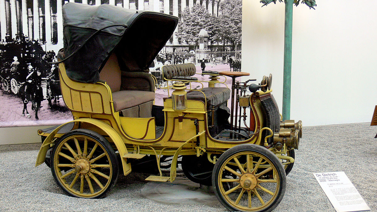 Automobile De Dietrich Grand Duc 1898, Musée national de Mulhouse, domaine public