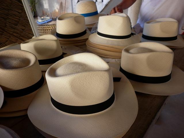 Chapeaux Panamas en paille
