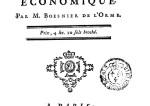De l'Esprit du Gouvernement économique (Boesnier de l'Orme)