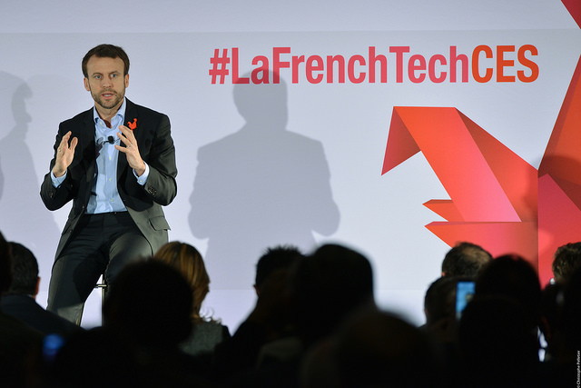 Emmanuel Macron à La French Tech Night en janvier 2016