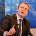 Emmanuel Macron au forum de Davos en janvier 2016