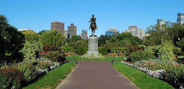 George Washington statue, Boston Common (public gardens). Boston, MA.