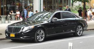Mercedes S-Class d'un chauffeur Uber